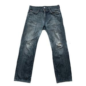 7 For All Mankind Jeans Size 32 Relaxed Distressed